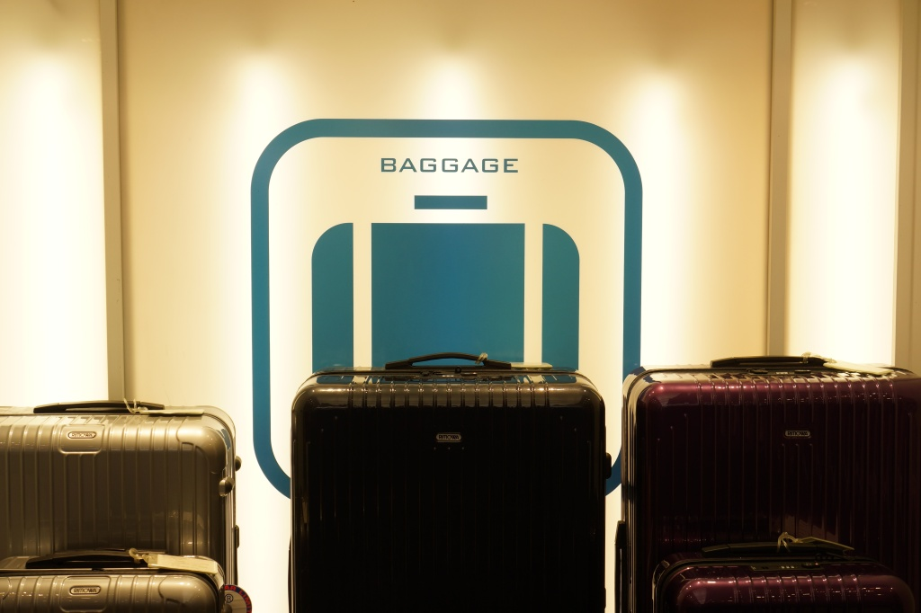 Luggage and suitcases at Flight 001